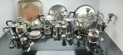 A Large Job Lot Of Antique/vintage Silver Plated Items With Many Makers Names