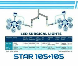 Led Operation Theater Lights Star 105+105 Examination And Surgical Lights Wall Mou