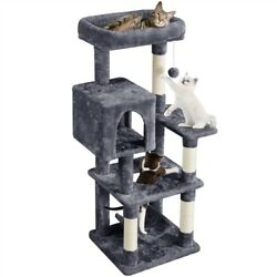 52in Cat Tree Tower Scratching Post Condo Cradle Climbing Hole As Play Center