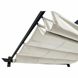 13x10ft Pergola Canopy Fabric Replacement Cover Uv-protected Durable White Aleko