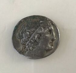 Egypt Ptolemy Ix Tetradrahm Silver Coin Inclined