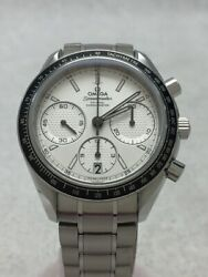 Omega Speedmaster Racing Ss Analog Stainless White Silver Watch Used Excellent