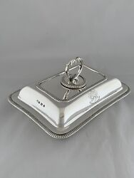 Rare Sized Antique Silver Entree Dish And Lid 1927 Sheffield 924gm 23cm Sterling