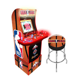4-player Online Nba Jam Upright Classic Arcade Game Riser And Stool Included
