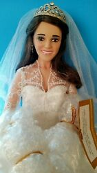 Princess Kate Porcelain Doll,...stands 16 Inches Tall. She's In New Condition..