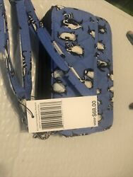 Vera Bradley All In One Crossbody For I Phone 6 Playful Penguins Blue NWT $40.00