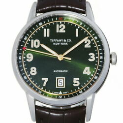 And Co. Ct60 Menand039s Watch 37835994 Stainless Steel Green Arabian Dial