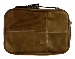 Bible Cover Brown Leather Touch Large Fits 9.25 X 6.5 X 1.75 Inches