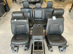 2011-2016 Ford F250 F350 Superduty Front Seats Black Leather Heated Cooled Set