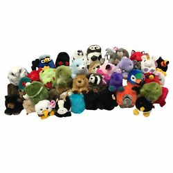 Huge Collection Of 77 Vintage Swibco Puffkins Plush Animals And Birds With Tags