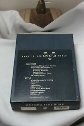 Vintage Oxford Text Bible White Leather New Boxed N