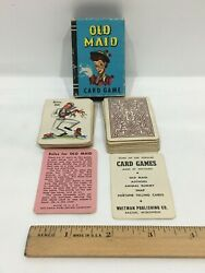 Vintage Miniature Peter Pan Old Maid Cards Whitman No. 4117