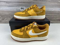Nike Womenand039s Air Force 1 And03907 Se Gold Suede Sail Size 10 Da8302 700 Nwb