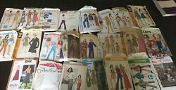 Lot Of 23 Vintage 1960s-1970s Sewing Patterns Simplicity - Mccall - Butterick