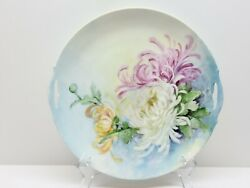 1904 Kpm Germany Porcelain Floral Hand Painted Cabinet Plate Cake Plate Handled