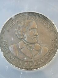 1856 First Republican Candidate Ever J.c. Freemont Campaign Token Gop Icg Graded