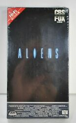 Aliens Vhs Tape 1st Print 1987 Stereo Red Label Side Upc Cbs Fox New Sealed Igs