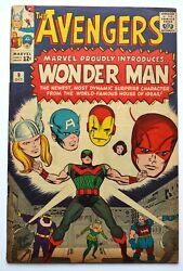 Avengers 9, 1964 Silver Age, 1st Appearance Wonder Man Baron Zemo, Very Good+