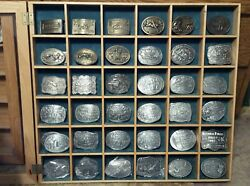 Hesston Nfr Collectible Belt Buckles 1974-2015 Incl. 25th And 50th Anniversary