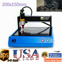 400w Electric Metal Marking Machine For Metal Tag Steel Sign Engraver 200x150mm