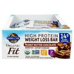 Garden Of Life - Organic Fit High Protein Weight Loss Bars Peanut Butter