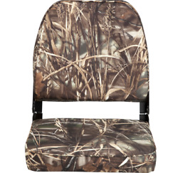 Fishing Boat Seats Folding Camo Boat Vinyl Low Back Hunting Durable Camouflage