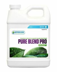 Botanicare Pure Blend Pro Grow Quart Hydro And Soil Plant Nutrients Free Shipping