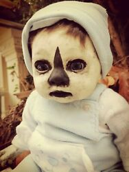 👻 Ooak Creepy Zombie Horror Baby Doll 👻weighted👻 Perfect Halloween Prop...