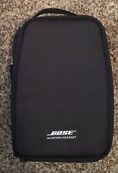 New Bose A20 Aviation Headset Carry Bag With Aux 3.5mm Stereo Wire