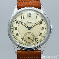 Tissot Arabic Index Pencil Hand Small Second Cal.27 Manual Winding 1950s Watch