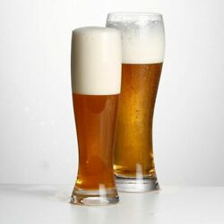 Beer Glasses Pilsner Highball Design 13.5 Oz Set Of Two Big Capacity For Party