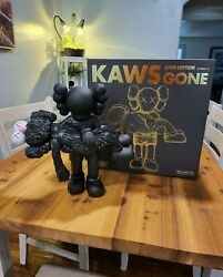 Authentic Kaws Gone Figure Black Figure Includes All Original Packaging