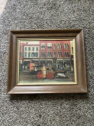 Vintage Steamer Horse Drawn Fire Engine Fireman Fire Department Picture
