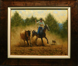 Graeme Hagan Original Oil On Canvas Holding His Own Ii Hand Signed Framed