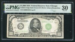 Fr. 2211-gdgs 1934 1000 One Thousand Dollars Frn Chicago Il Pmg Very Fine-30