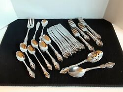 Flatware 74pc Oneida Distinction Deluxe Raphael Stainless Setting For 9 +extras