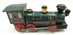 Vintage Litho Tin Toy Western Train Trade Mark Modern Toys Made In Japan