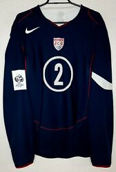 Usa Nike Qualifiers Wc 2006 Clint Dempsey L/s Player Issue Away Soccer Jersey