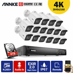 Annke 4k H.265+ 16 Channel Nvr 8mp Poe Ip Camera Security System Audio Recording