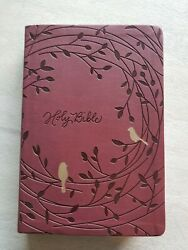 Holy Bible Nkjv Giant Print Red Letter Edition Nelson 1982 Engraved Cover Birds