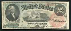 """Fr. 42 1869 2 Two Dollars """"rainbow"""" Legal Tender United States Note Very Fine"""