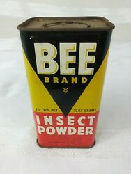Vintage Bee Brand Insect Powder Tin 2.5oz Mccormick And Co Baltimore San Francisco