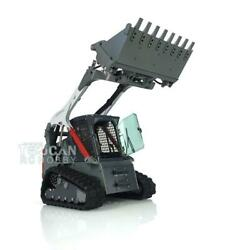 Lesu 1/14 Scale Rc Hydraulic Aoue-lt5 Tracked Skid-steer Loader Model W/ Lights