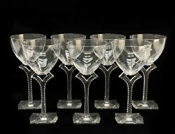 7 Baccarat France Crystal Glass Water Glasses In Oxygene