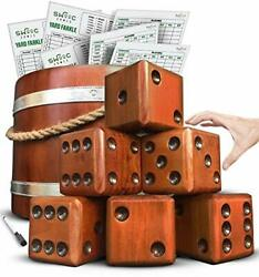 Swooc Games - Yardzee Farkle And 20+ Games - Giant Yard Dice Set All Weather Wi...