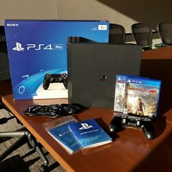 Sony Playstation 4 Pro - Ps4 - Complete - Upgraded 2tb Hdd - Ac Unity/ Odyssey
