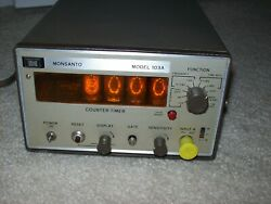 Monsanto Model 103a Nixie Tube Counter - Timer Powers Up