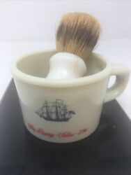 Vintage Old Spice Shaving Mug And Brush Ship Recovery Salem 1794 - Made In Belgium