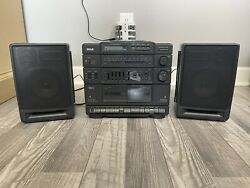 Vintage Rca Rp-7950a Am/fm Stereo Cd Dual Cassette Recorder Boombox