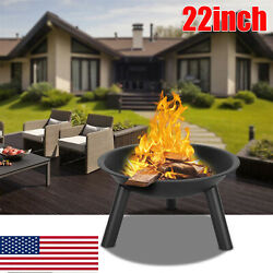 Fire Pits Wood Burning Heater Outdoor Metal Firepit Table Patio Garden Bbq Stove